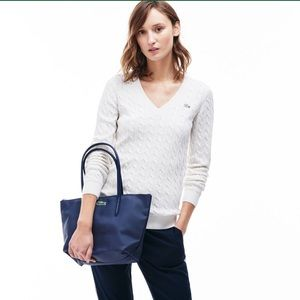 NWT Lacoste Small Tote Bag Blue Eclipse